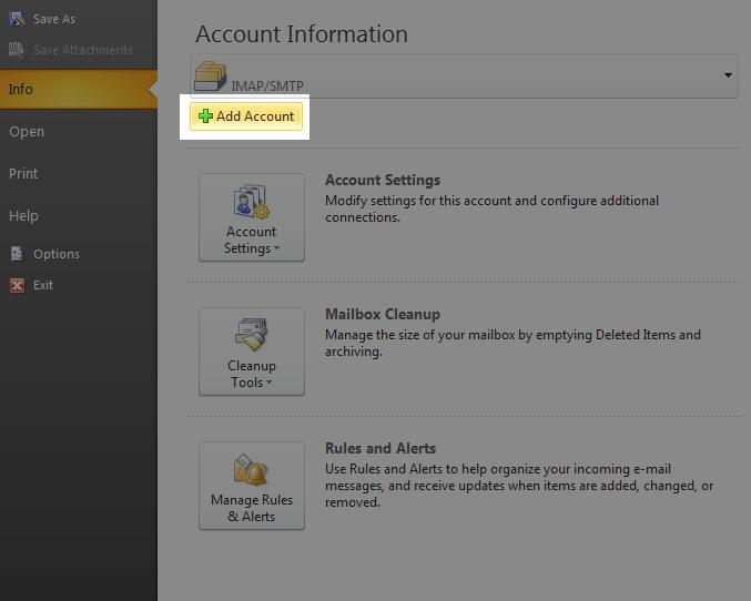 Tutorial: Menghubungkan MS Outlook 2010 Dengan Emel